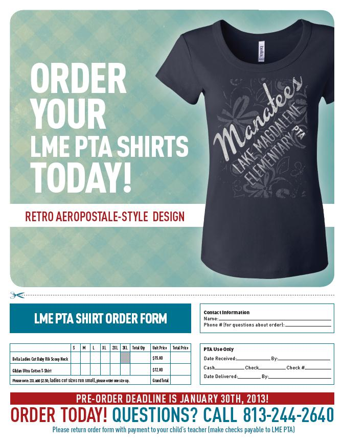 TShirt Order Form – Shirt Order Form